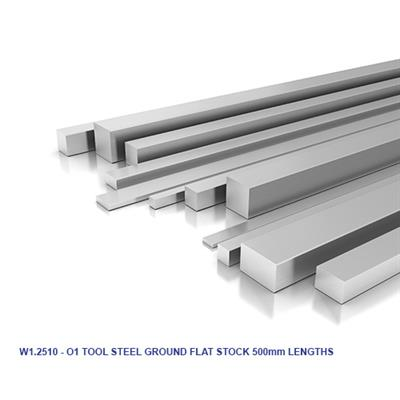 1.2510 - O1 TOOL STEEL GROUND FLAT STOCK 500mm LENGTHS